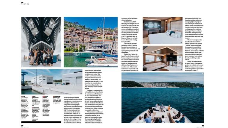 Media asiatici in visita a Monte Carlo Yachts